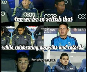 real madrid, sad, and james rodriguez image