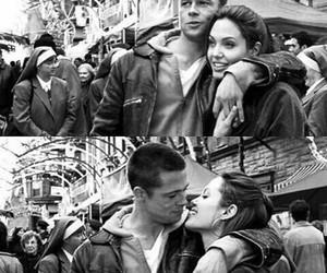 love, brad pitt, and Angelina Jolie image