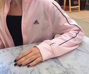 adidas, pink, and marble image
