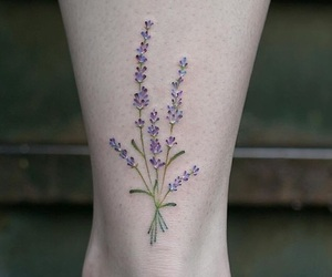 flowers, tattoo, and floral image