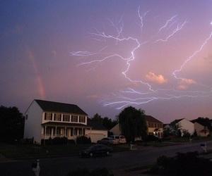sky, lightning, and rainbow image