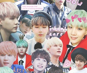 bts, suga, and Collage image