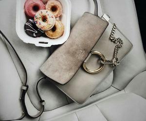 donuts, bag, and fashion image