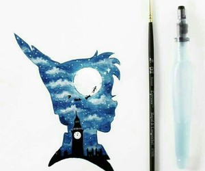 art, blue, and peter pan image