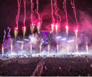 dance, festival, and fireworks image