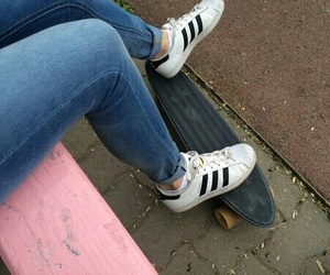 adidas, grunge, and shoes image