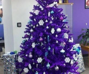 christmas, decorations, and purple image