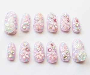 etsy, christmas nail art, and fake nails image