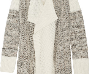 fashion and knitted cardigan image