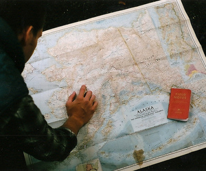 map, boy, and photography image
