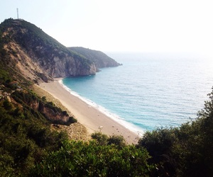 beach, lefkada, and Greece image