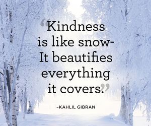 kindness, snow, and quotes image