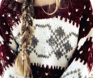 winter, sweater, and snow image