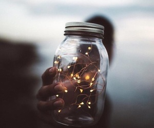 light, tumblr, and jar image