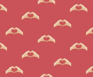 hands, wall paper, and heart image