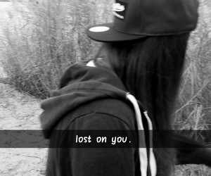 girl, lost, and me image
