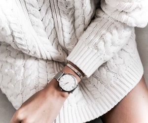 sweater, watch, and winter image