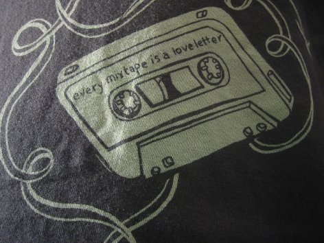 cassette, tshirt, and clothing image