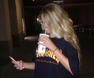 girl, tumblr, and blonde image