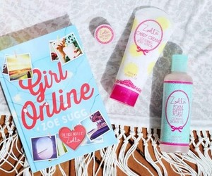 girl online, book, and girly image