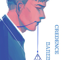 fantastic beasts, credence, and credence barebone image