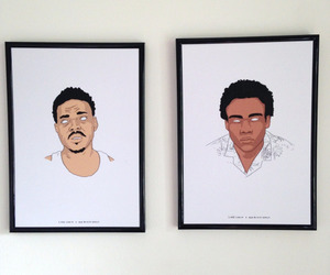 painting, donald glover, and chance the rapper image