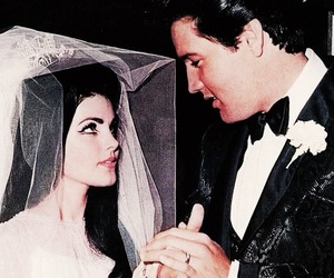 wedding, elvis, and couple image