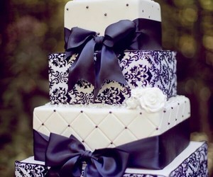 cake, wedding, and purple image