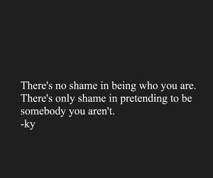 be who you are, fake, and feelings image