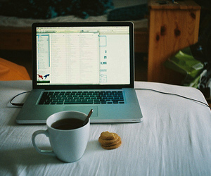 coffee, vintage, and computer image