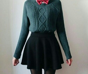 autumn, outfit, and skirt image