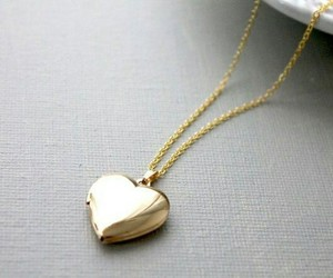heart, gold, and accessories image