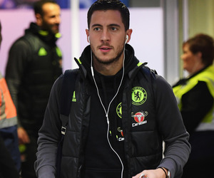 Chelsea, football, and eden hazard image