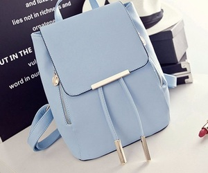 backpack and sky blue image