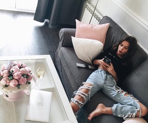 fashion, girl, and home image