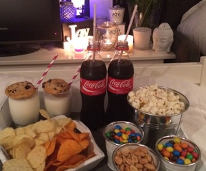food, netflix, and coca cola image