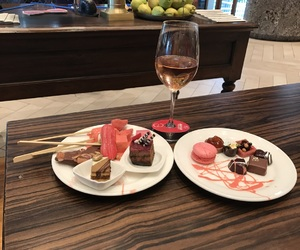 brownies, champagne, and cakes image