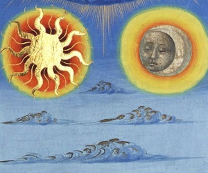 15th century, art, and sun and moon image