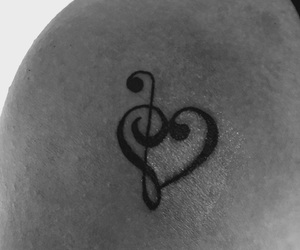 black, heart, and white image