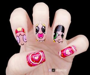 nail art, nails, and powerpuff girls image