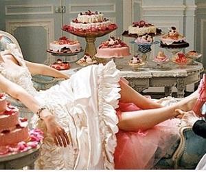 marie antoinette, cake, and Kirsten Dunst image