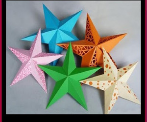 christmas, christmas crafts, and crafts. paper stars image