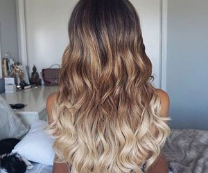 hair, ombre hair, and balaye image