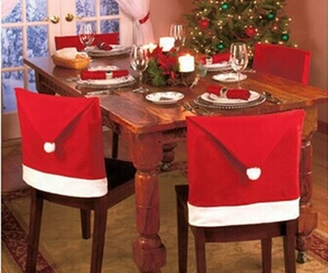 christmas, dinner, and santa claus image