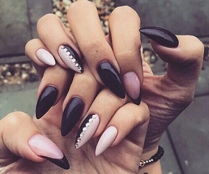 nails, style, and black image