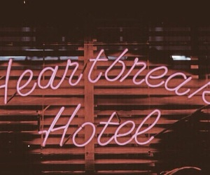 hotel, neon, and grunge image