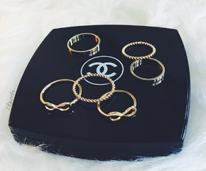 chanel, glamour, and gold image
