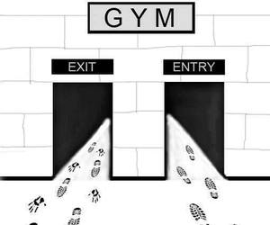 gym, funny, and fitness image