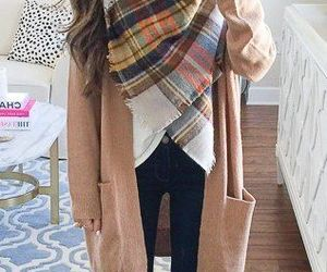 autumn, cardigan, and cozy image