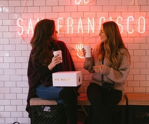 girls, coffee, and style image